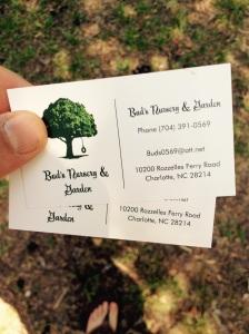 Bud's bus card