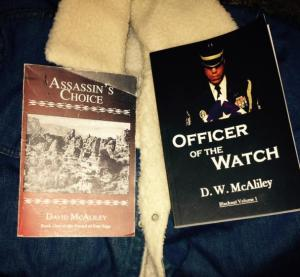 Left is the book from class, Right is my first self-pub/indie-pub work.